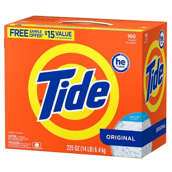 Envio Gratis! Detergente Tide He Polvo 6.4 Kgs 160 Lavadas