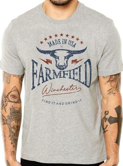 Camiseta Farm Caterpillar King Roper Country Arame Txc Gring