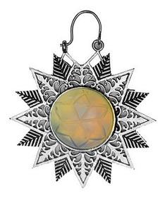 Brinco Indiano Tribal Mandala Sol Dourado Prateado Pedra Lua