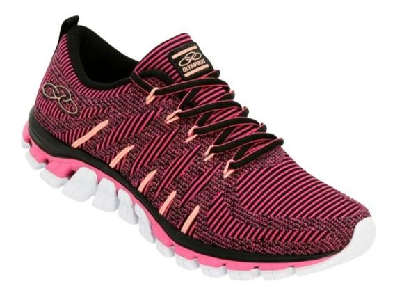 Tenis Feminino Olympikus Style Pink/preto Promoção Original