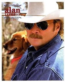 Alan Jackson Autografiado 8x10 2005 Tour Promo Photo Aftal U