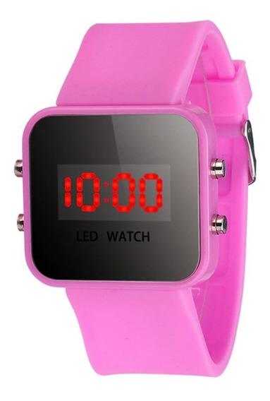 Relógio De Led Digital Infantil Feminino Em Promoção