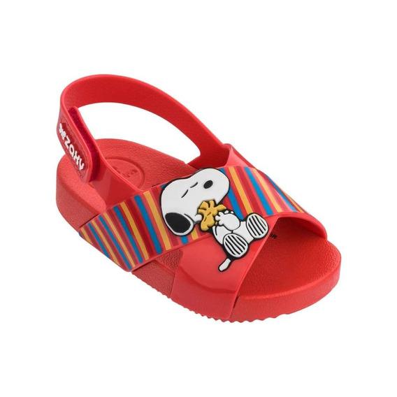 Sandália Snoopy Zaxynina Vermelha