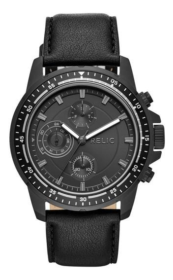 Reloj Caballero Relic Heath Zr15939 Color Negro