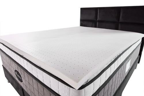 Pillow Top De Látex Espuma Importada King 100% Natural 4cm