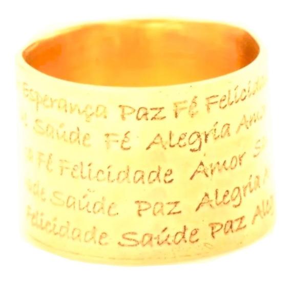 Anel Feminino Ouro 18k Aliança Da Felicidade + Porta Joias 0009