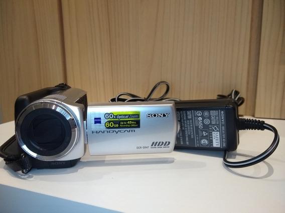 Filmadora Sony Dcr-sr47 Hd 60gb Zoom 60x Completa