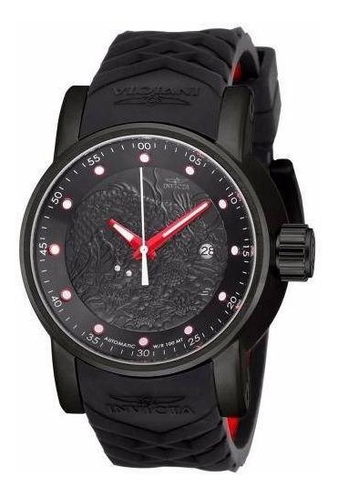 Relógio Invicta Yakuza Automático Original Puls Preta 18213