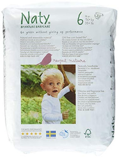 Naty By Nature Babycare Pañales Desechables Ecológicos De