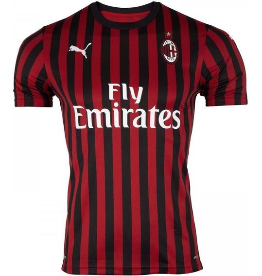 Camisa Milan 2019/2020 S/n Torcedor Masculina Pronta Entrega