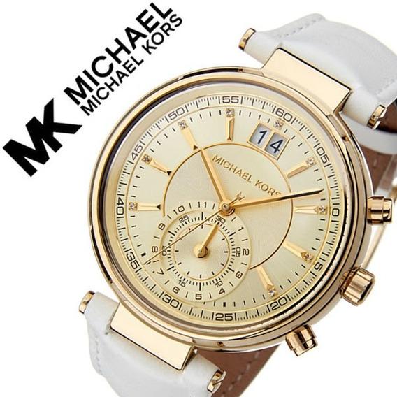 Relógio Feminino Michael Kors Mk2529 Dourado Aço Inox Ouro 18k Couro - Samyer