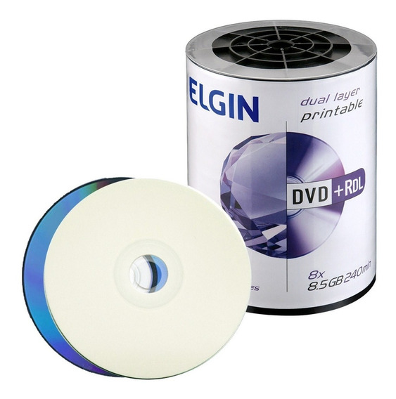 50 Dvd +r Elgin 8,5 Gb Printable R$ 98,00