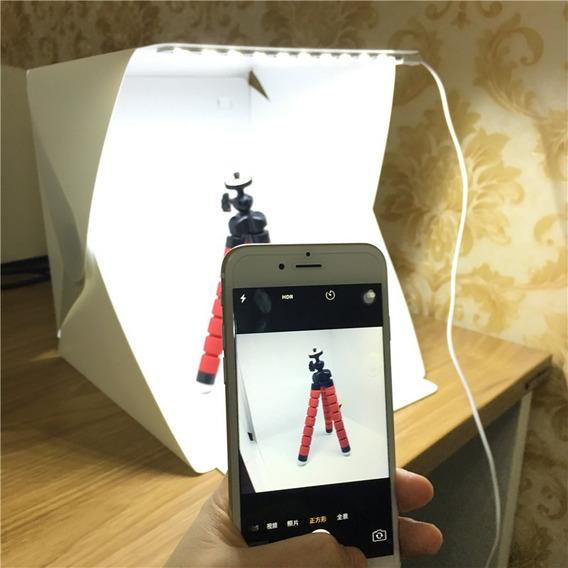 Mini Estúdio Fotográfico Portátil C/ Iluminação Led