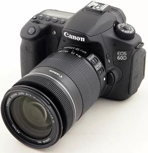 Canon 60d + Lente18-135mm +cartão + 2 Baterias+flash+mochila