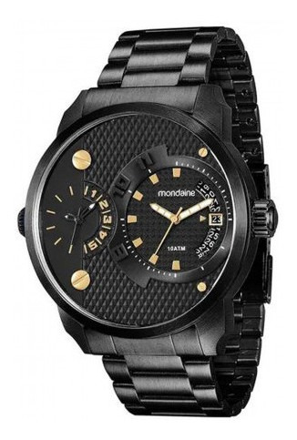 Relógio Mondaine Masculino Analógico Preto 78527gpmvpa7