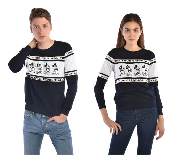 Suéter American Level Mickey Mouse Azul Unisex