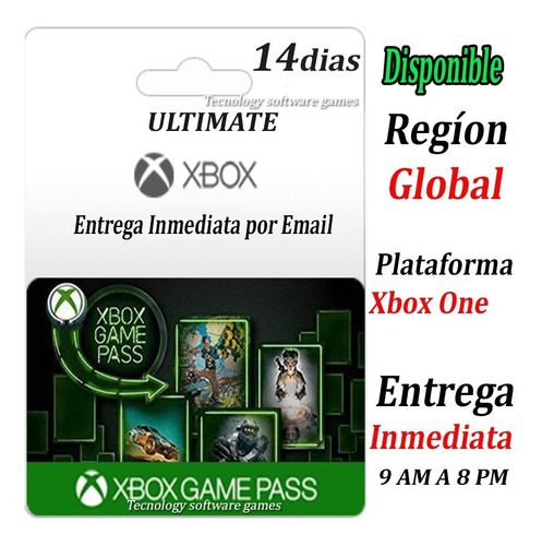 Xbox Game Pass Ultimate 14 Dias Codigo Xbox One/pc