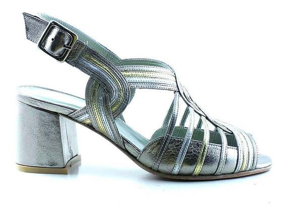 Sandalia Zapato Vestir Cuero Briganti Mujer Trenza Mcsd04748