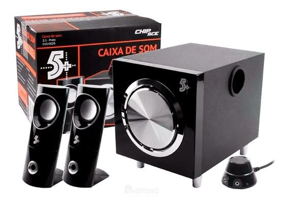 Caixa De Som 12w Potente Pc / Tv / P2 (fone) - Bivolt