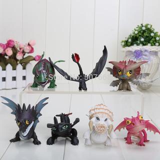 Kit 7 Dragões Como Treinar Seu O Dragão Bonecos F. De Ação