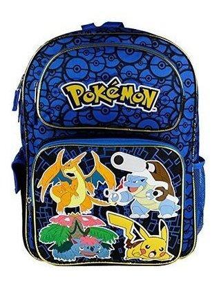 Mochila Pokemon Zoofy Full Size Blue 16