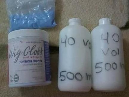 Combo 550gm De Decolorante Y Un Litro De Agua Oxigenada V40