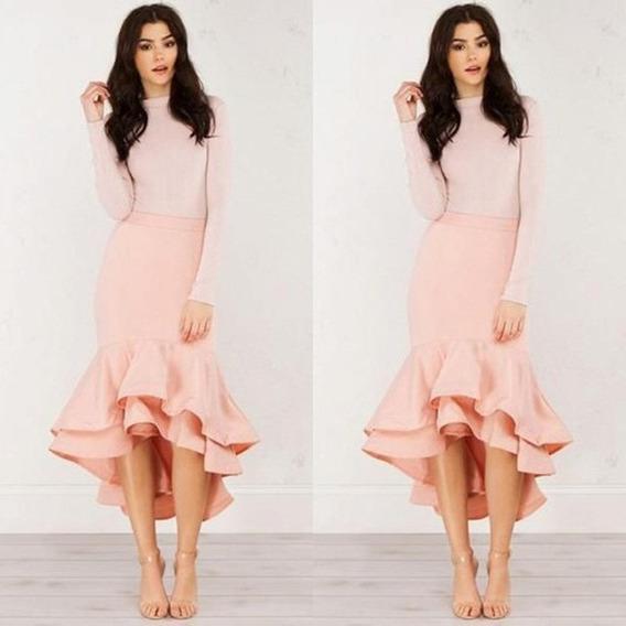 Linda Saia Moda Evangelica Elegante Cod#1002