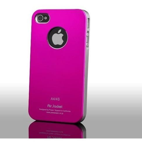 Carcasa Airjacket Color Rosado iPhone 4