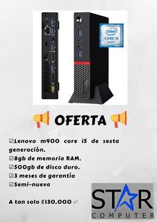 Mini Cpu Lenovo Core I5 6ta, 8 Gb Ram, 500gb Hdd Semi Nueva