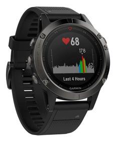 Relógio Gps Garmin Fenix 5 Safira Preto - Lacrado - Garantia