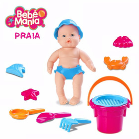 Boneca Bebe Mania Praia Original Roma