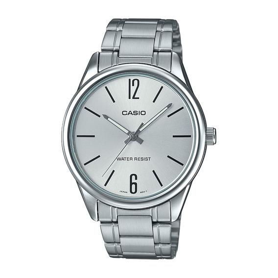Relógio Casio Collection Unissex Prata Mtp-v005d-7budf F.gra