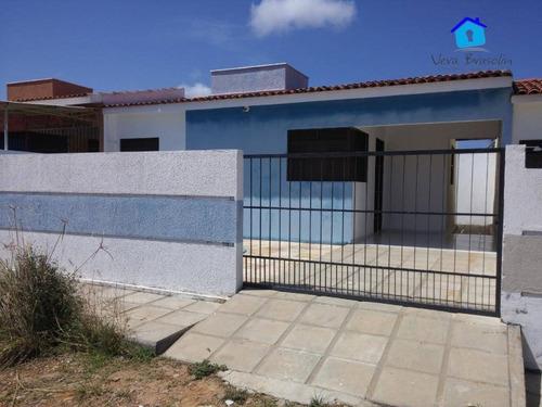 Casa À Venda, 55 M² Por R$ 125.000,00 - Carapibus - Conde/pb - Ca0481