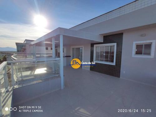 Maravilhosa Cobertura Com 3 Dormitórios À Venda, 134 M² Por R$ 350.000 - Atlântica - Rio Das Ostras/rj - Co0044