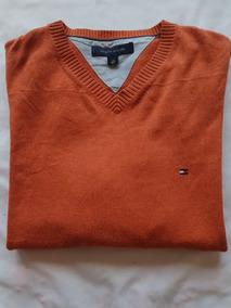 Oferta Sweater Suéter Tommy Hilfiger Naranja / Ladrillo S