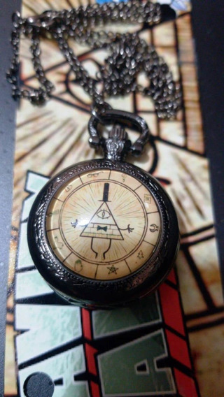 Reloj Bolsillo Gravity Falls Collar Anime Iluminati 3.5 Cms