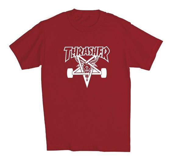 Playera Manga Corta Thrasher Magazine Skate Hombre Adulto