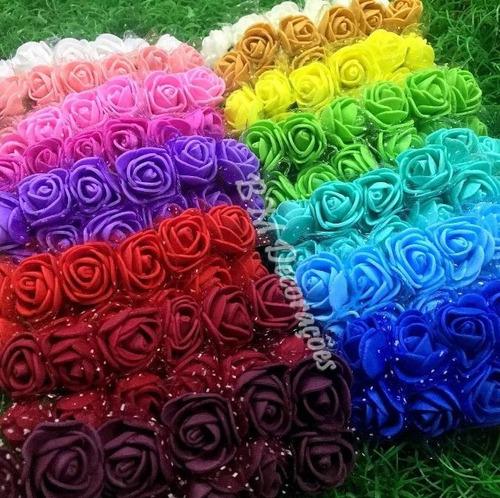Imagem 1 de 5 de 8 Pacotes De 144 Mini Rosas De Eva - Uma Cor Por Pacote