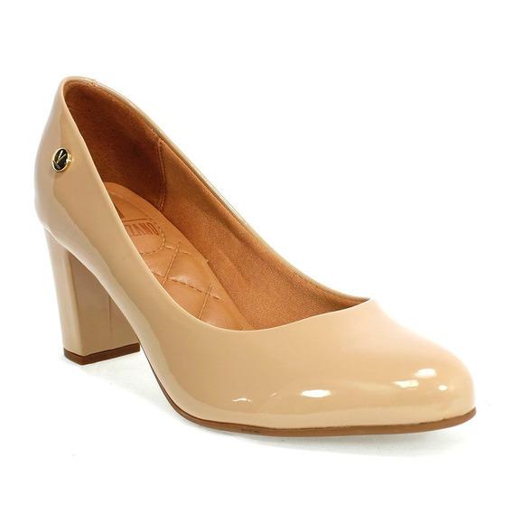 Sapato Feminino Verniz Bege Vizzano