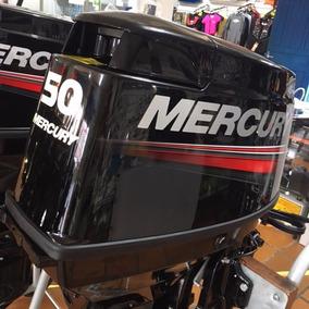 Motor De Popa Mercury 50hp 2 Tempos 3 Cil C/ Trim - 0km 2017