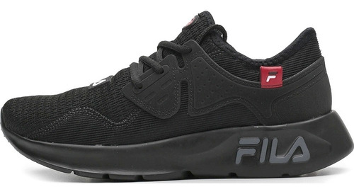 Imagem 1 de 5 de Tenis Fila Men Shoes Iconic Preto/vermelho Ref. 943939