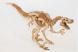 Rompecabezas Maqueta 3d Madera Dinosaurios Alosaurio