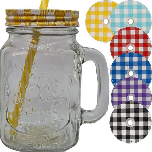 Imagem 1 de 7 de 1 Caneca E 1 Tampas Copo Caneca Ball Mason Jar Sweet Amado