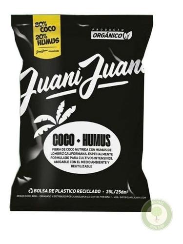 Sustrato 80% Fibra De Coco 20% Humus 25 Lt. / Juani Juana
