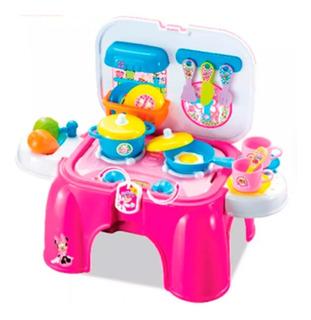 Juguete Banquito Valijita Minnie Set Cocina Zippy Toys Full