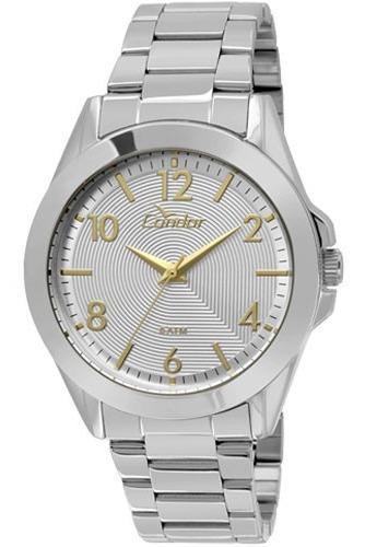 Relógio Condor Feminino Prateado Co2035ksh/k3k Com Nf