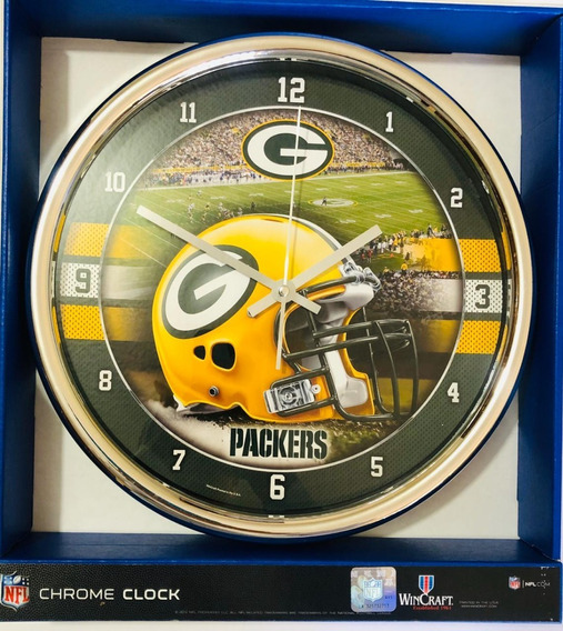 Reloj De Pared Green Bay Packers Original Nfl