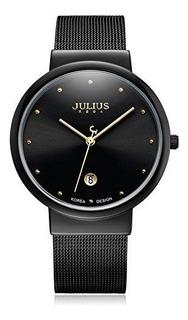 Julius Ja-426me Reloj De Pulsera Elegante De Moda Con Malla
