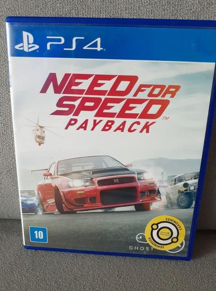 ( Frete R$ 9.90 ) Need For Speed Payback Ps4 Mídia Física Cd