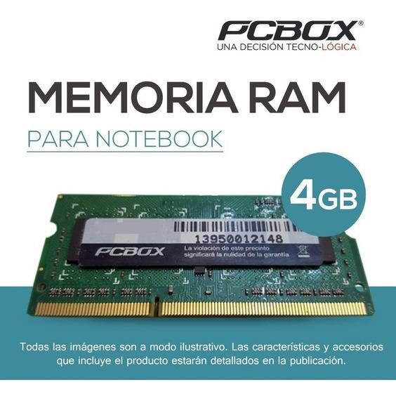 Memoria Pcbox 4gb Ddr3 Sodimm 1333mhz 100% Compatible